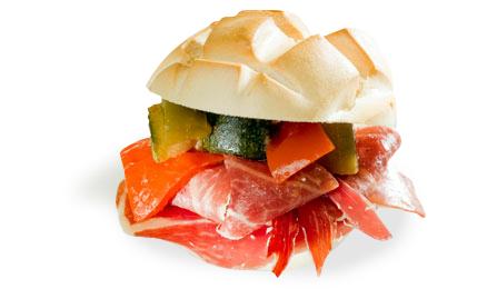 Continental Sandwich: Serrano Ham & Pisto