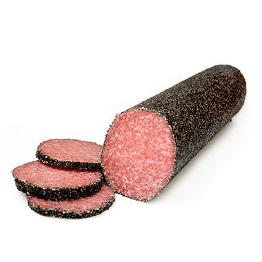 Pepper Coated Salami Log