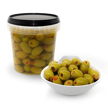 Green Olives Stuffed with Sundried Tomatoes