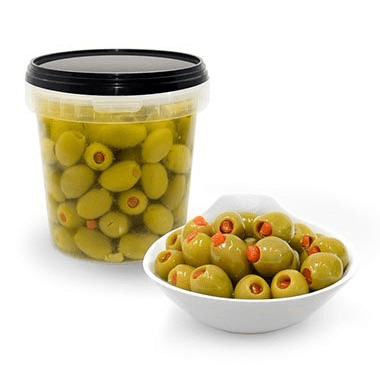 Green Olives stuffed with Paprika