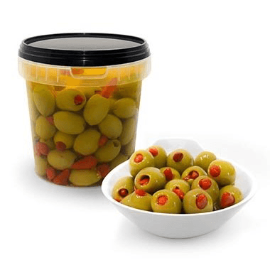 Mysoldeli Green Olives Stuffed With Piri Piri