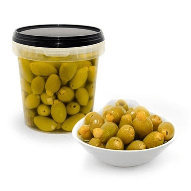 Green Olives stuffed with Lemon