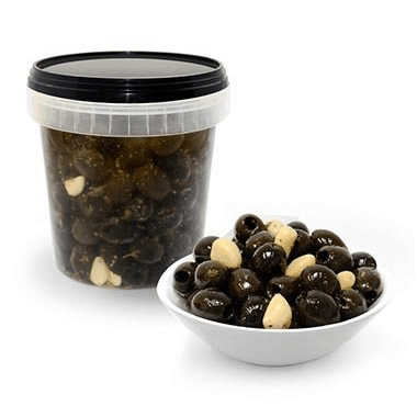 Black Pitted Olives with Herbs