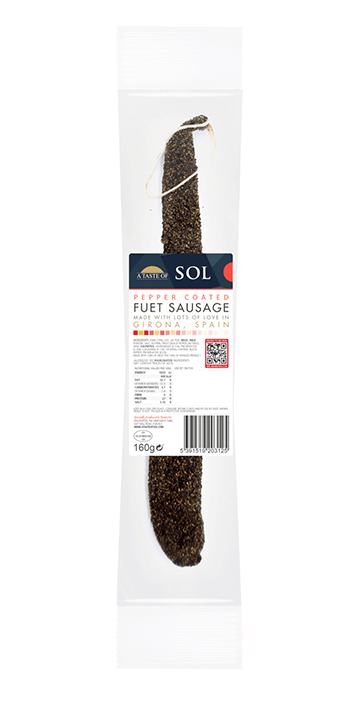 Sol Pepper Coated Fuet Sausage