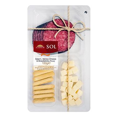 Salami, Iberico Cheese & Breadsticks