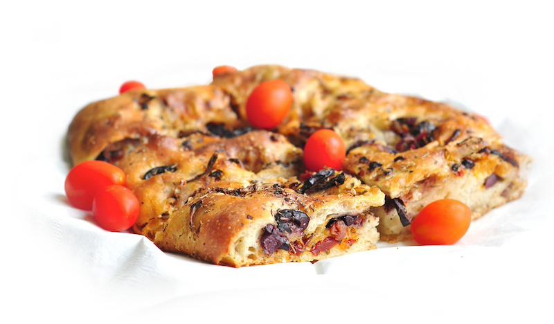 Olive, Sundried Tomato and Feta Focaccia